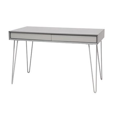 Bureau 2 tiroirs sak gris for Bureau 2 tiroirs