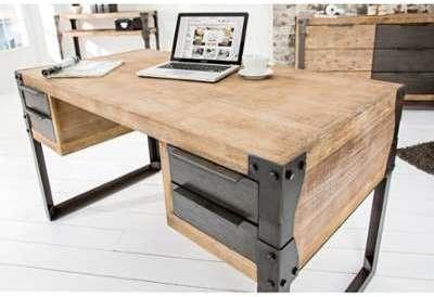 Photo de bureaux en bois: bureau metal et bois champagneconlinoise