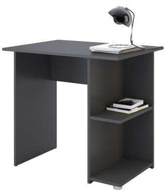 bureau jerrell gris mat. Black Bedroom Furniture Sets. Home Design Ideas