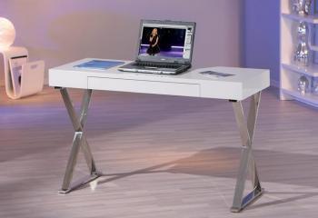 Bureau Design Blanc Laque