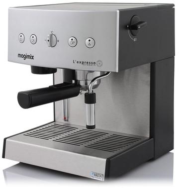 machine expresso chrom brillante automatique magimix pour caf moulu dosettes
