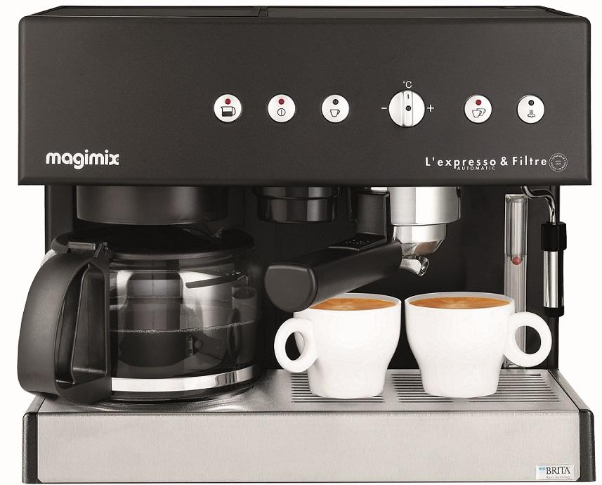 machine expresso filtre noire magimix pour espresso et caf filtre. Black Bedroom Furniture Sets. Home Design Ideas