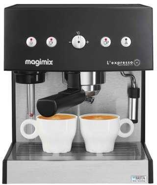 machine expresso noire automatique magimix pour café moulu