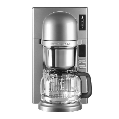 kitchenaid 5kcm0802 infuseur de caf filtre argent 2 8 tasses 1 carafe 1 filtre 1200w. Black Bedroom Furniture Sets. Home Design Ideas