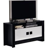 Swithome cmeuble tv jornalia blanc noir for Meuble tv jeffrey