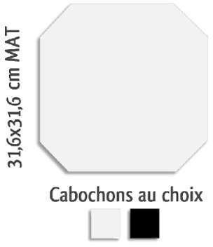 Arcana carrelage rectifie gris concrete cm 1 for Carrelage octogonal blanc