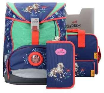 DerDieDas Ergo Flex Cartable et accessoires ( Ensemble de 5 pcs) Flamingo O6yKlD788H