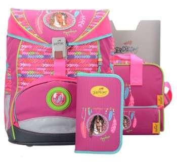 DerDieDas Ergo Flex Cartable et accessoires ( Ensemble de 5 pcs) Flamingo uVUpjXG7