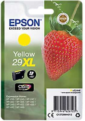 epson t2994 epson 29xl epson fraise jaune cartouche dencre compatible. Black Bedroom Furniture Sets. Home Design Ideas