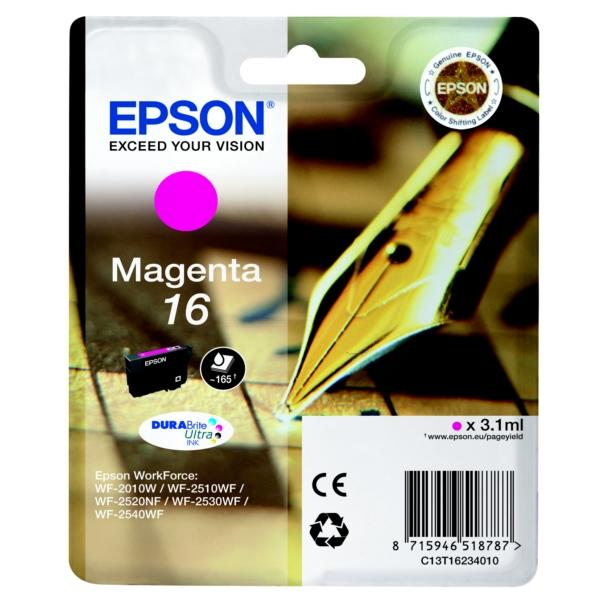 encre epson magenta s rie stylo plume pour wf 2010w 2510wf 2520nf 2530wf 2540wf 165 pages. Black Bedroom Furniture Sets. Home Design Ideas