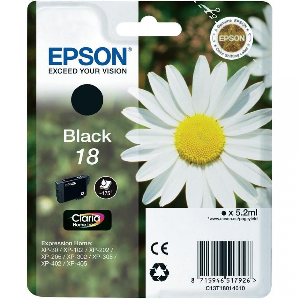 epson 18 p querette cartouche dencre authentique epson noir c13t18014012. Black Bedroom Furniture Sets. Home Design Ideas