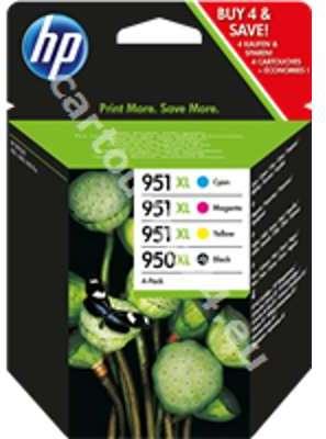 hp 950xl hp 951xl pack cartouche haute capacit de 4 couleurs pour imprimante jet dencre hp. Black Bedroom Furniture Sets. Home Design Ideas