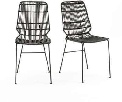 Cat gorie chaises de salle manger marque la redoute - Chaise en kubu tresse ...