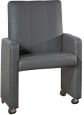 Chaise Avec Roulette Gris