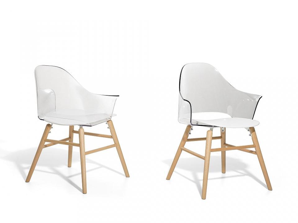 Bote en plastique blanc transparent de l - Chaise haute transparente ...