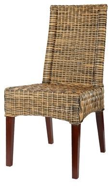 rotin cchaise desna blond naturel et gris ardoise. Black Bedroom Furniture Sets. Home Design Ideas