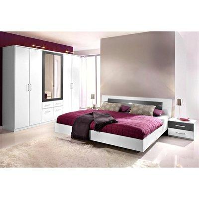 Ensemble chambre adulte maison design for Axel chambre complete adulte 140 cm reglisse mastic
