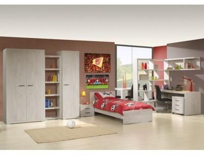 Lit en hauteur 90x200cm sommier lattes bois sapin crete for Chambre a coucher complete avec matelas et sommier
