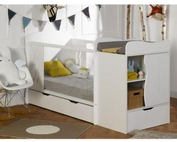 Pinolino chambre bb sky blanc lit volutif commode arm for Chambre bb volutive
