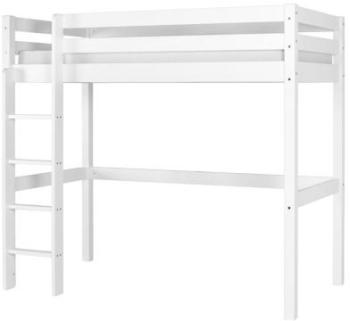 lit mezzanine miki 90 x 190 cm mi hauteur blanchi. Black Bedroom Furniture Sets. Home Design Ideas