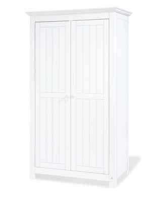 Pinolino chambre bebe nina lit commode armoire 2 portes for Armoire blanche en pin