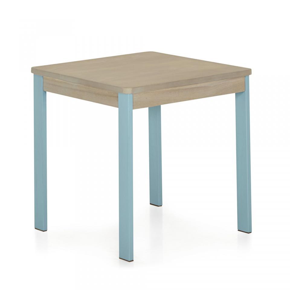 table enfant en bois carre avec rangement l56cm h20cm ciel. Black Bedroom Furniture Sets. Home Design Ideas