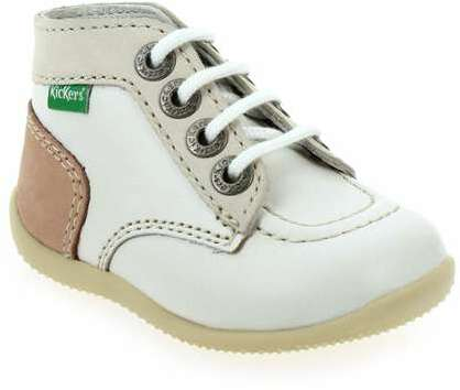 7e5788ba37e816 Bottines Kickers BONBON blanc