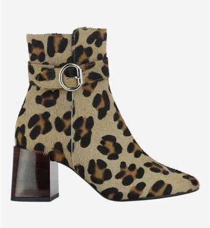 Boots en cuir poulain léopard 6c6c00544bd7