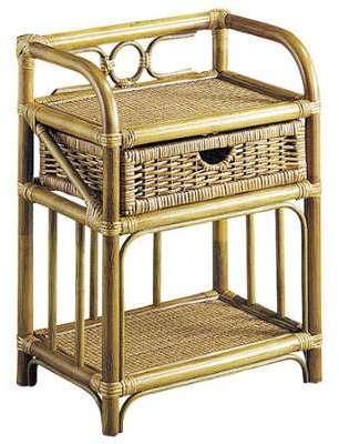 little chevet bois et rotin. Black Bedroom Furniture Sets. Home Design Ideas