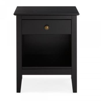 couleurs chevet en pin bross 1 niche et 1 tiroir brush de. Black Bedroom Furniture Sets. Home Design Ideas