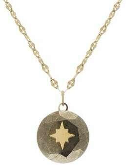Collier étoile et pyrite (doré)
