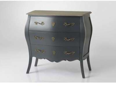 little commode longue baroque grise. Black Bedroom Furniture Sets. Home Design Ideas