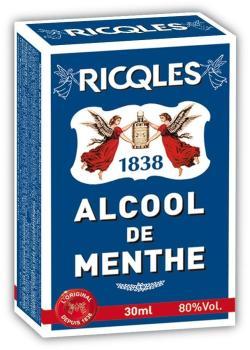 Ricqles calcool de menthe 30 ml for Alcool de menthe fait maison
