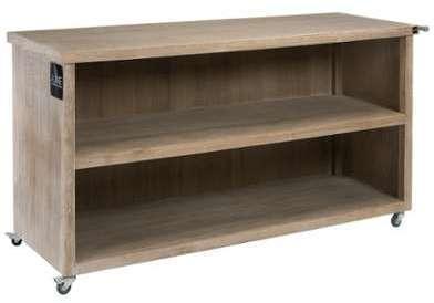Vidaxl palissade en bois 200 x 100 cm for Console meuble tv