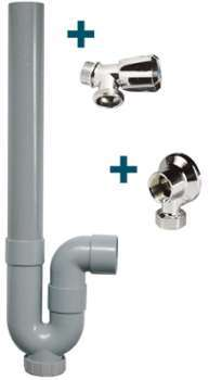 bh robinet machine laver double chrom 15x21 20x27. Black Bedroom Furniture Sets. Home Design Ideas