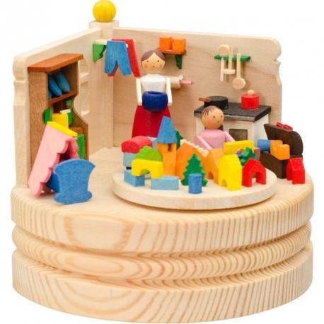 trousselier c boite musique en bois lapin fille dcoration. Black Bedroom Furniture Sets. Home Design Ideas
