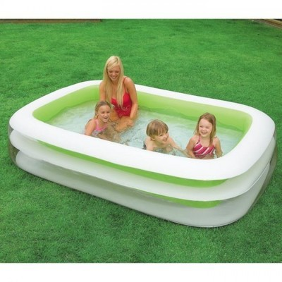 Bestway piscine rectangulaire structure en acier 956x488x1 for Piscine gonflable rectangulaire