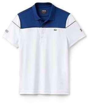 Lacoste Sport - Polo Manches Courtes Homme - DH4121 Bleu (Marino/Blanc-Noir) Large (5) KLTHb9l6