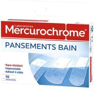 Mercurochrome c pansements bain aqua r sistant x 16 for Pansement piscine