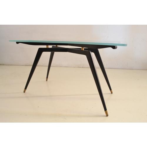 Table basse en bois l80cm avec dessus pivotant et - Table basse en bois noir ...