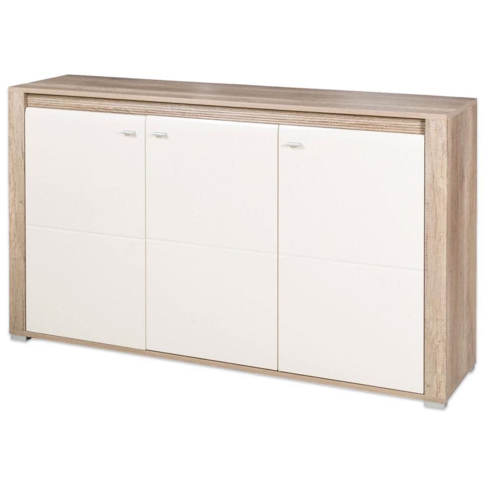 demeyere enfilade 2 portes et 3 tiroirs avec 2 niches enzo. Black Bedroom Furniture Sets. Home Design Ideas