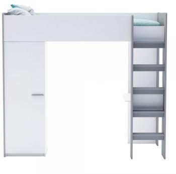 Llit mezzanine wolf brut - Lit mezzanine 1 place avec bureau ...