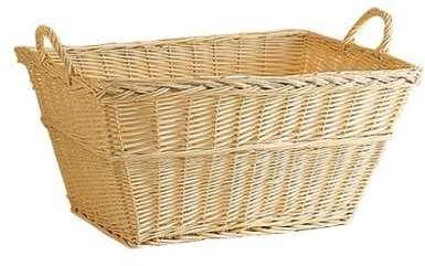 corbeille linge avec couvercle de lige 60l white cork. Black Bedroom Furniture Sets. Home Design Ideas