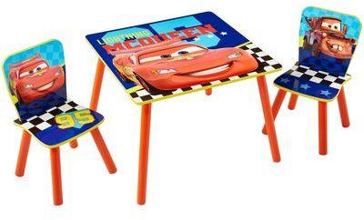 disney ensemble table avec rangement et 2 chaises princes. Black Bedroom Furniture Sets. Home Design Ideas