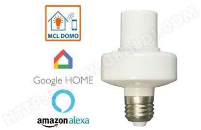 home douille pour ampoule variateur 100w e24 elro ea. Black Bedroom Furniture Sets. Home Design Ideas