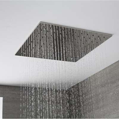 vidaxl pommeau de douche en acier inoxydable rectangulaire. Black Bedroom Furniture Sets. Home Design Ideas