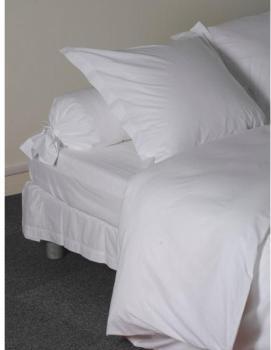 Blanc drap coton des vosges 280 x 320 cm for Drap housse 100x200