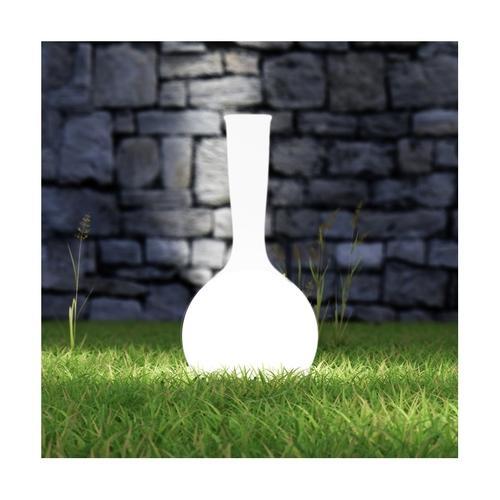 Vase lumineux blanc conique secteur dext rieur 90cm mps7 12 for Vase lumineux exterieur