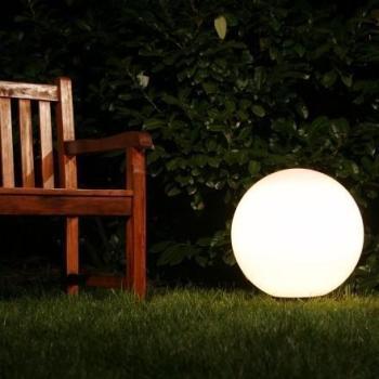 Eclairage boule exterieur best boule solaire mm led blanc - Boule lumineuse exterieur leroy merlin ...