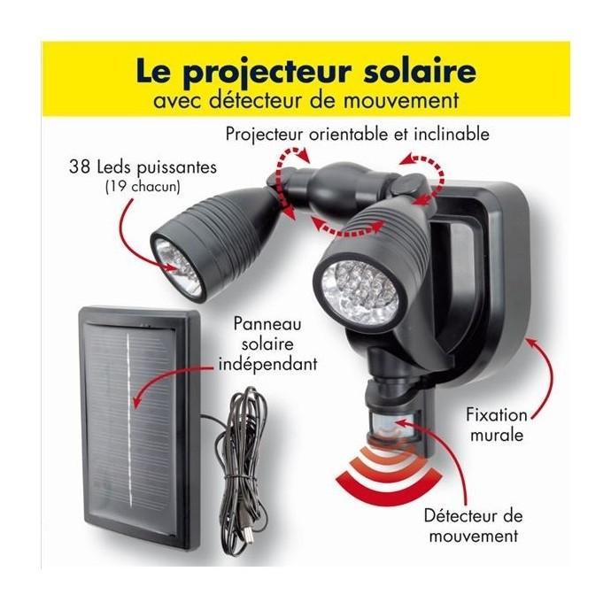 Catgorie eclairage extrieur page 11 du guide et comparateur d 39 achat - Projecteur solaire puissant ...
